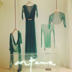 Green is the colour of nature, spring and hope.  The Cortana Spring Summer 2014 women pret a porter collection.
