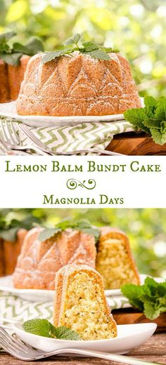 Lemon Balm Bundt Cake is moist with a delicate herbal citrus flavor. Surprise your friends with this unique cake made with a fresh garden herb.