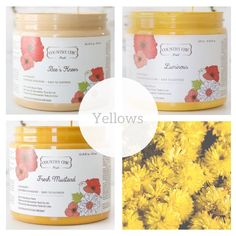Country Chic Paint - Yellow — Two Old Souls Shades Of Light Blue, Shades Of Black, Paint Line, Distressed Painting, Old Soul, Yellow Painting, Bees Knees, Country Chic, White Paints