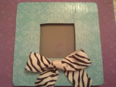 DIY Frame, My favorite one! Zebra Bathroom, Diy Frame, Zebra Print, Picture Frames, Bows, Crafty, My Favorite Things, Christmas, Pictures