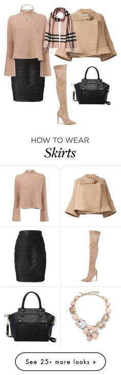 """""""Untitled #400"""" by cool-julija on Polyvore featuring Kendall + Kylie, Versace, Proenza Schouler, Chloé, Burberry, Pink Haley and Oscar de la Renta"""