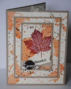 A triple layer technique card using Gorgeous Grunge and Magnificent Maple stamp…