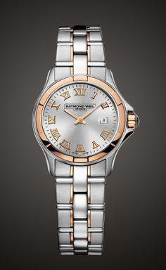 #Reloj @RAYMOND WEIL en acero y oro rosa, mara mujeres que quieren un reloj para siempre