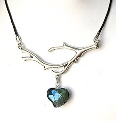 Crystal NecklaceLeather NecklaceHeart necklacePerfect Valentines day GiftCrystal HeartLeather ChokerHandmadeWire WrappedPewter BranchGenuine Black LeatherAdjustable lengthTeal Green * Read more reviews of the product by visiting the link on the image.Note:It is affiliate link to Amazon.