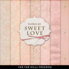 New Freebies Paper Kit - Sweet Love