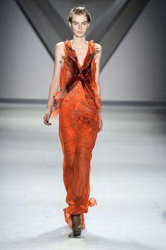 Orange sexy  Vera Wang winter 2013