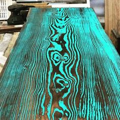 Shou Sugi Ban coffee table Im currently building. Shou Sugi Ban coffee table Im currently building. Funky Painted Furniture, Resin Furniture, Furniture Projects, Furniture Makeover, Outdoor Furniture, Painted Coffee Tables, Decorating Coffee Tables, Art Deco Coffee Table, Woodworking With Resin