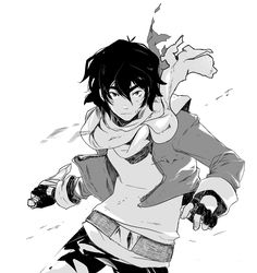 Keith in comic book art style sketch drawing from Voltron Legendary Defender