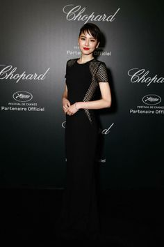 Masami Nagasawa in a black Stella McCartney gown at the Chopard Backstage Dinner & After party during the Cannes Film Festival. Photo courtesy of Getty Images.