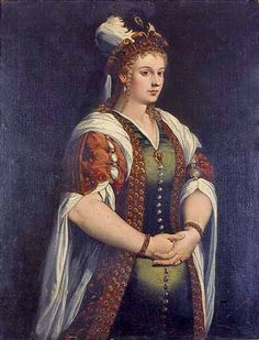 (Reinette: Turquerie in Portrait Painting) Portrait of Caterina Cornaro,Queen of Cyprus by Titian,1542