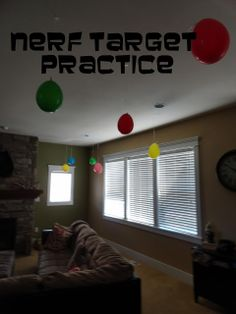 Holy Craft: Nerf target practice birthday party~~I think this is such a fun idea!