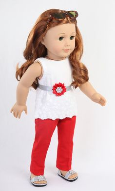 American Girl Doll Clothes AG Doll Clothes 18 inch doll clothes, Summer Chic outfit by ModernDollWorld