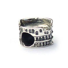Roman Colosseum Landmark Bead, great detail and a perfect addition to a travel theme bracelet. Fits Pandora and other European bracelets Silver Charm Bracelet, Sterling Silver Bracelets, Beaded Bracelets, Bracelet Charms, Charm Bracelets, Pandora Jewelry, Pandora Charms, Pandora Beads, Charm Jewelry