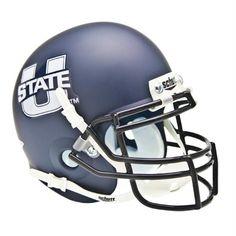 #Utah #State #Aggies NCAA Authentic Mini 1/4 Size Helmet (Alternate Navy 1)