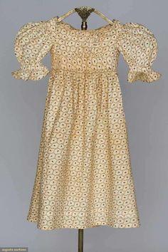 1820er, Kinderkleid aus Baumwolle, USA