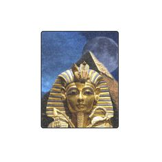 "King Tut and Pyramid Blanket 40""x50"". FREE Returns #blankets #kingtut"