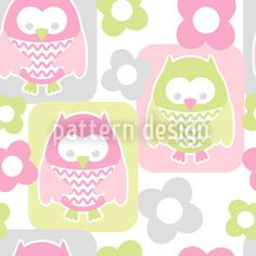Cute Owls designed by Tanya Laporte, vector download available on patterndesigns.com Owl Patterns, Pattern Designs, Cute Owl, Vector Pattern, Vector File, Cute Designs, Home Textile, Surface Design, Hello Kitty