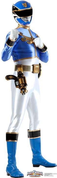 Blue - Power Rangers Megaforce Cardboard Stand-Up