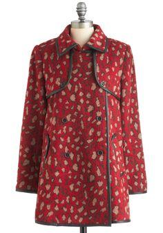 Dolce Vita Red Leopard Day Coat