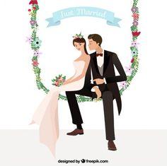 Wedding Illustration, Couple Illustration, Wedding Frames, Wedding Cards, Digital Invitations, Wedding Invitations, Wedding Painting, Beautiful Barbie Dolls, Wedding Background