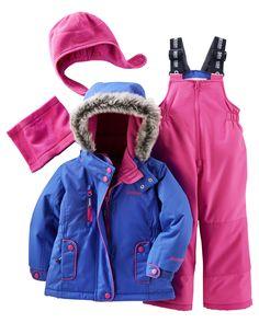 4-Piece Fleece-Lined Snowsuit Set