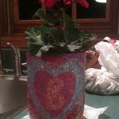 Pot made from 2 liter pop bottle