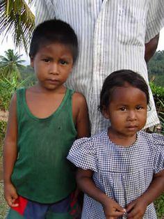 Carib children of Dominica
