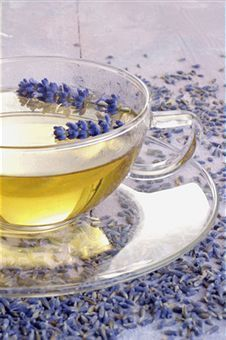 Never tasted a Lavender Tea before... I wonder how it will taste! / Lavender Tea Recipe: 3 Tablespoons fresh Lavender flowers or 1 1/2 Tablespoons dried Lavender flower, 2 cups boiling water, honey and lemon if desired. Put the flowers in a teapot or container along with the boiling water allowing them to steep a good 4 to 5 minutes. Pour into cups straining if necessary to remove the flower buds. Serve Lavender flower tea with honey and sliced lemon.