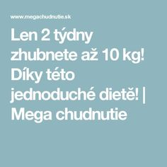 Len 2 týdny zhubnete až 10 kg! Keto Recipes, Smoothies, Food And Drink, Drinks, Health, Blog, Body Exercises, Decor, Smoothie