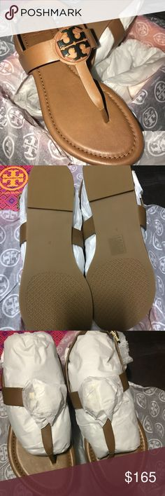 NEW! Tory Burch Bryce Thong Sandal 8 Brand New! Authentic Tory Burch Royal Tan Size 8 Thong Sandal. I purchased these over the weekend, and really don't need another pair of tan sandals. I'm trying to avoid the 1hr plus drive to return back to the store, so this listing will only be up for a few days so as to not exceed the return policy.  No crazy markup, just trying to recoup what I paid.  Don't delay or they will be gone.  Please ask any questions.  Thanks for looking!!! Tory Burch Shoes…