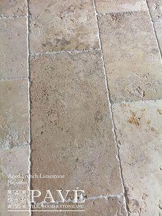 Pavé Tile, Wood & Stone, Inc. > Aged French Limestone and Belgium… Pavé Tile, Wood & Stone, Inc. > Aged French Limestone and Belgium… Limestone Quarry, Limestone Flooring, Rustic Tile Flooring, Stone Floor Texture, Travertine Pavers, White Flooring, Linoleum Flooring, Terrazzo Flooring
