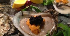 Blue Point Oyster, Uni and Caviar - Chef Joseph Yoon