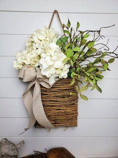 Front Door Decor, Wreaths For Front Door, Door Wreaths, Summer Deco, Deco Nature, Deco Floral, Summer Wreath, Diy Wreath, Porch Decorating