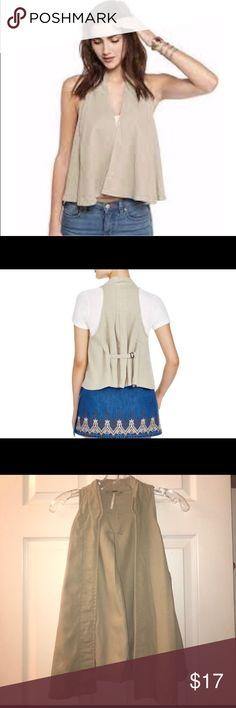 NWOT⚡️Free People linen vest NWOT⚡️beige linen swingy tencel vest.. never worn/ excellent condition Other