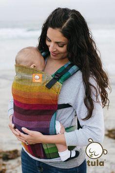 021da6772b5 (Standard Size) Half Wrap Conversion Tula Baby Carrier - Girasol Deag Black  weft Baby