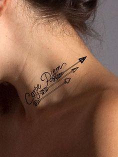 Carpe Diem Arrow Tattoo