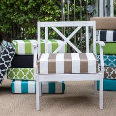 Coral Coast Lakeside 22.5 x 21.5 in. Outdoor Deep Seating Seat Cushion
