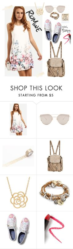 """""""Floral Dress"""" by starspy ❤ liked on Polyvore featuring Gentle Monster, Chloé, Lord & Taylor, Lizzy James, Keds and Lapcos"""