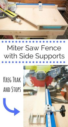 Make the most out of your miter saw with this extended fence and side supports. Add the Kreg Trak and Stops kit for the ultimate in productivity!