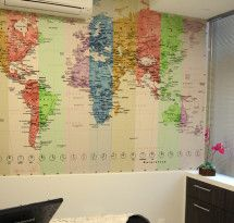 Adesivo de Parede – Mapa-múndi Educativo Colors