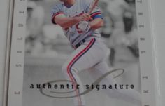 I will sell my AUTO 1996 Dave Silvestri Donruss for $6.00