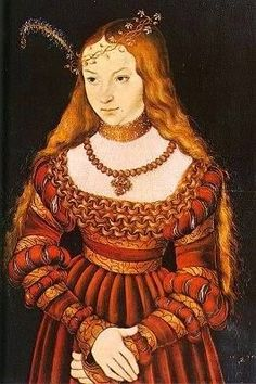 German Renaissance gown dress Brustfleck Cranach Judith