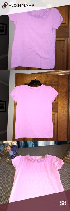 Size XL (14) NWT Lavender SS Tee with Rosettes Size XL (14) Crazy 8 Short Sleeve Tee New with Tags. Rosettes at collar. Crazy 8 Shirts & Tops Tees - Short Sleeve