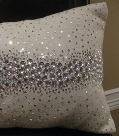 I love sparkly pillows no matter what my husband says