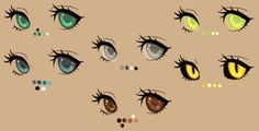 eye color palette by Kohlmeisen