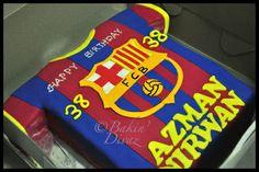 Barcelona FC Jersey Cake