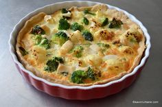 Mozzarella, Spinach Mac And Cheese, Quiche Lorraine, Broccoli, Bacon, Food Porn, Food And Drink, Pizza, Cooking Recipes