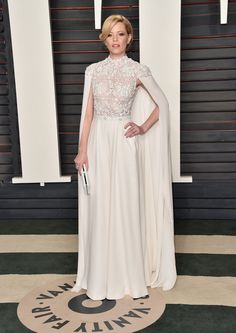 Elizabeth Banks Wearing a Ralph & Russo gown and Tiffany & Co. jewelry at Vanity Fair's Oscars party. Don't Miss 1 Single Look From the Oscars Afterparties