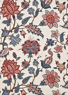Baker's Indienne Spring/Mauve by G P & J Baker Textile Prints, Textile Design, Fabric Design, Floral Prints, Print Wallpaper, Fabric Wallpaper, Vintage Design, Vintage Prints, Chintz Fabric