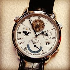 Amazing craftsmanship on this mens watch by Glasutte